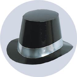 deluxe black top hats