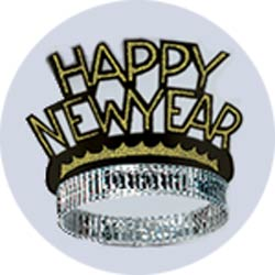 black and gold new years tiaras