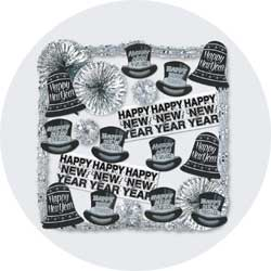 new years decorations kit silver