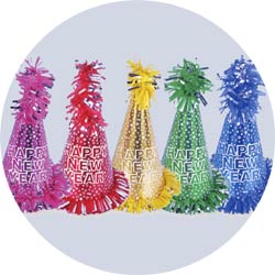 assorted color superstar new year party hats 1087g