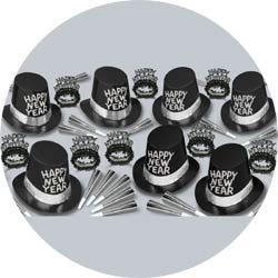 black tie assortment 88257-50 new years party kit