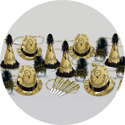 gold midnight assortment 88446BKG50 new years party kit