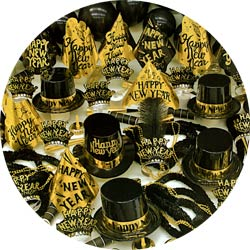 gold sensation party kit 806-100 new years party kit