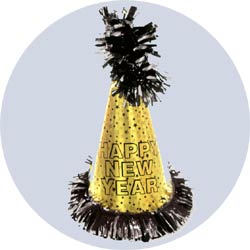 gold superstar new year party hats 1087g