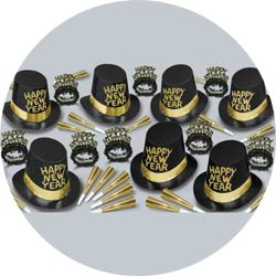 manhattan assortment 88258-50 new years party kit
