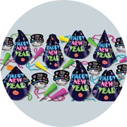 neon midnight assortment 88057-50 new years party kit