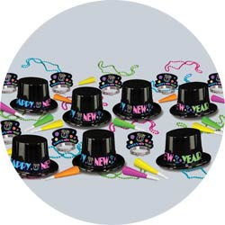 neon party assortment 88089-50 new years party kit