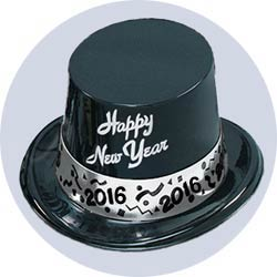 2016 new years hats silver