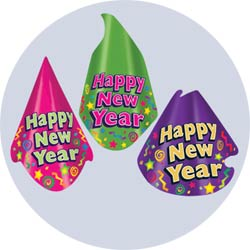 color brite new years party hats
