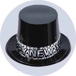 new years hats plastic silver star