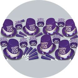 purple passion assortment 88259-PL50 new years party kit