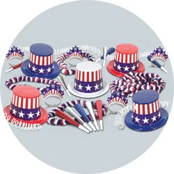 spirit of america assortment 66500-50 new years party kit