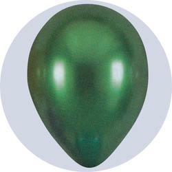pearlized green latex balloons